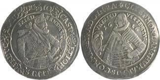 1/2 Taler 1626 Saalfe Sachsen-Coburg Johann Casimir und Johann Ernst II. 1572-1633 ss-vz, l.Fass.sp.