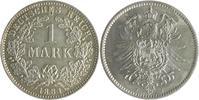 1 Mark 1881 J Kaiserreich  vz-st, Vs.:kl.Einhieb  80,00 EUR  zzgl. 6,50 EUR Versand