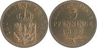 3 Pfennige 1867 A Brandenburg in den Marken - Preussen Wilhelm I. 1861-... 35,00 EUR  zzgl. 6,50 EUR Versand