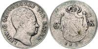 6 Kreuzer 1820 Baden Ludwig 1818-1830 ss, l.por.Schrtl., sehr selten  110,00 EUR  zzgl. 6,50 EUR Versand