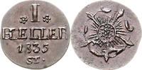 1 Heller 1835 Lippe-Detmold Paul Alexander Leopold 1820-1851 vz-st, kl.... 75,00 EUR  zzgl. 6,50 EUR Versand