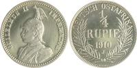 1/4 Rupie 1910 J Deutsch-Ostafrika  PP  1250,00 EUR  zzgl. 6,50 EUR Versand
