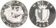 Malta 5 Lira - 10 Ecu Verteidigung Europas - Drei Schiffe