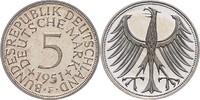 5 Deutsche Mark (DM) 1951 F Bundesrepublik Deutschland - BRD  PP  340,00 EUR  zzgl. 6,50 EUR Versand