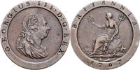 1 Penny 1797 Großbritannien Georg III. 1760-1820 ss+, dkl.Patina, kl.Rf.  80,00 EUR  zzgl. 6,50 EUR Versand