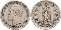 50 Öre 1877 Norwegen Oskar II. 1972-1905 f.ss, kl.Sf.  95,00 EUR  zzgl. 6,50 EUR Versand