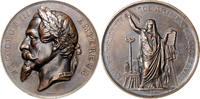 Bronzemedaille 1866 Frankreich Napoleon III. 1852-1870 vz, kl.Kr.  180,00 EUR  zzgl. 6,50 EUR Versand