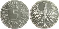 5 Deutsche Mark (DM) 1967 J Bundesrepublik Deutschland - BRD  PP  130,00 EUR