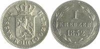 1 Kreuzer 1832 Nassau Wilhelm 1816-1839 vz  26,00 EUR  zzgl. 6,50 EUR Versand