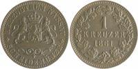 1 Kreuzer 1861 Nassau Adolph 1839-1866 vz  12,00 EUR  zzgl. 6,50 EUR Versand