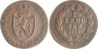 1 Kreuzer 1813 Nassau Friedrich August und Friedrich Wilhelm 1803-1816 ... 15,00 EUR  zzgl. 6,50 EUR Versand