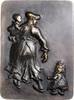 Bronzeguss, einseitig o.J. Kunstguss Mutter mit Kindern vz  90,00 EUR  zzgl. 6,50 EUR Versand