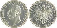 3 Mark 1911 A Anhalt Friedrich II. 1904-1918 PP, Prachtexemplar  975,00 EUR  zzgl. 6,50 EUR Versand