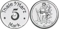 5 Mark o.J. Thale (Provinz Sachsen)  vz, weiß emailliert, zentr. gelocht  80,00 EUR  zzgl. 6,50 EUR Versand