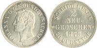 2 Neugroschen 1871 Sachsen Johann 1854-1873 vz-st/f.st  60,00 EUR  zzgl. 6,50 EUR Versand