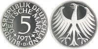 5 Deutsche Mark (DM) 1971 D Bundesrepublik Deutschland - BRD  PP  105,00 EUR  zzgl. 6,50 EUR Versand