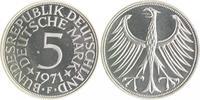 5 Deutsche Mark (DM) 1971 F Bundesrepublik Deutschland - BRD  PP  105,00 EUR  zzgl. 6,50 EUR Versand