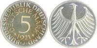 5 Deutsche Mark (DM) 1971 J Bundesrepublik Deutschland - BRD  PP  105,00 EUR  zzgl. 6,50 EUR Versand