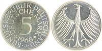 5 Deutsche Mark (DM) 1968 J Bundesrepublik Deutschland - BRD  PP  110,00 EUR  zzgl. 6,50 EUR Versand