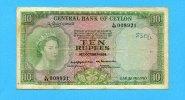 10 Rupees, 1954, Ceylon,  IV,  80,00 EUR  zzgl. 5,00 EUR Versand