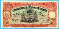 Brittisch West-Afrika, 20 Schillings, 1930 II  650,00 EUR