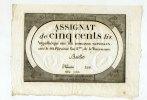 500 LIVRES; (1794)Lan2 Frankreich, Assignat, Unc,  140,00 EUR  +  7,00 EUR shipping