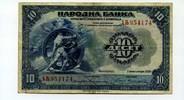 10 Dinara, 1920, Jugoslawien,  III-,  55,00 EUR  +  7,00 EUR shipping