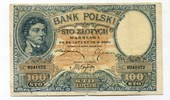 100 Zloty, 1919, Polen,  III-IV,  65,00 EUR