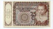 25 Gulden, 1943, Niederlande,  II,  60,00 EUR  +  7,00 EUR shipping