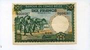 10 Francs, 1941, Belgisch Kongo,  III,  150,00 EUR  +  7,00 EUR shipping
