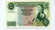 25 Rupees, (1967), Mauritius,  II+,  111,00 EUR  +  7,00 EUR shipping