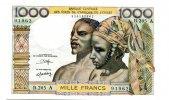 1000 Francs, (1980), Westafrikanische Staaten, Elfenbeinküste, I,  66,00 EUR  zzgl. 5,00 EUR Versand
