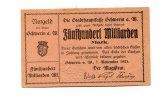 500 Milliarden Mark, 1923, Schwerin a..d.Warthe/Posen,  II,  66,00 EUR59,40 EUR  +  7,00 EUR shipping