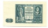 50 Zloty, 1941, Polen, Probe ?, I-II,  130,00 EUR  +  7,00 EUR shipping