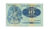 10 Krooni, 1937, Estland,  I,  65,00 EUR  +  7,00 EUR shipping