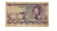 20 Rupees, 1968, Seychelles,  III-,  175,00 EUR  +  7,00 EUR shipping