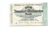 100 Milliarden Mark, 15.10.1923, Opladen,  II,  75,00 EUR67,50 EUR  +  7,00 EUR shipping