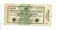2,10 Mark Gold=1/2 Dollar, 1923, Deutsches Reich, Schatzanweisung, II,  150,00 EUR  +  7,00 EUR shipping
