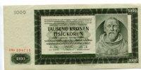 1000 Kronen, 1942, Deutschland, Böhmen u.Mähren, II,  70,00 EUR  zzgl. 5,00 EUR Versand