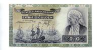 20 Gulden, 19.März 1941, Niederlande,  I-,  95,00 EUR  +  7,00 EUR shipping