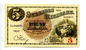 5 Kronor/Kronen, 1933, Schweden,  I,  65,00 EUR  +  7,00 EUR shipping