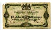 1 Riksdaler, 1871, Schweden,  IV,  65,00 EUR  +  7,00 EUR shipping