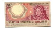 25 Gulden, 1955, Niederlande,  III,  55,00 EUR  +  7,00 EUR shipping