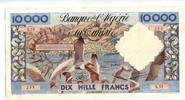 10000 Francs, 1955, Algerien,  II-III,  475,00 EUR  +  7,00 EUR shipping