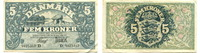 5 Kroner/Kronen, 1922, Dänemark,  III+,  165,00 EUR150,00 EUR  +  7,00 EUR shipping