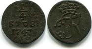 1/4 Stüber 1747B.I.D. Brandenburg/Preussen, Friedrich II.der Große 1740... 85,00 EUR  zzgl. 5,00 EUR Versand