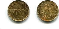 1 Pfennig 1865(1960) Preussen, Wilhelm I.1861-1888, vz+  65,00 EUR  zzgl. 5,00 EUR Versand