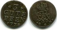 3 Gute Pfennig 1735EGN Brandenburg-Preussen, Friedrich Wilhelm I. 1713-... 85,00 EUR  zzgl. 5,00 EUR Versand
