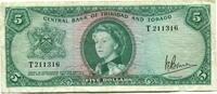 5 Dollars 1964 Trinidad & Tobago,  III  55,00 EUR  +  7,00 EUR shipping