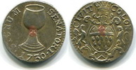 Ratszeichen 1730 Köln Stadt  ss  65,00 EUR  zzgl. 5,00 EUR Versand